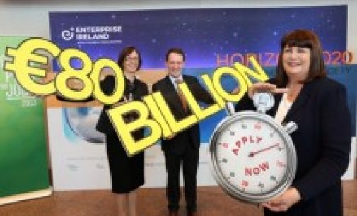 Horizon 2020, Europe's largest ever fund for research and innovation comes to Ireland