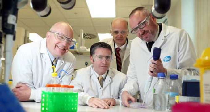 MINISTER ENGLISH ANNOUNCES SCIENCE FOUNDATION IRELAND AND PFIZER INC. COMMITMENT FOR BIOMEDICAL RESEARCH