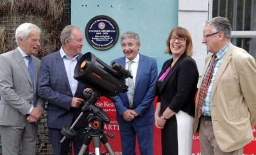Plaque Unveiled to Telescope-maker Thomas Grubb